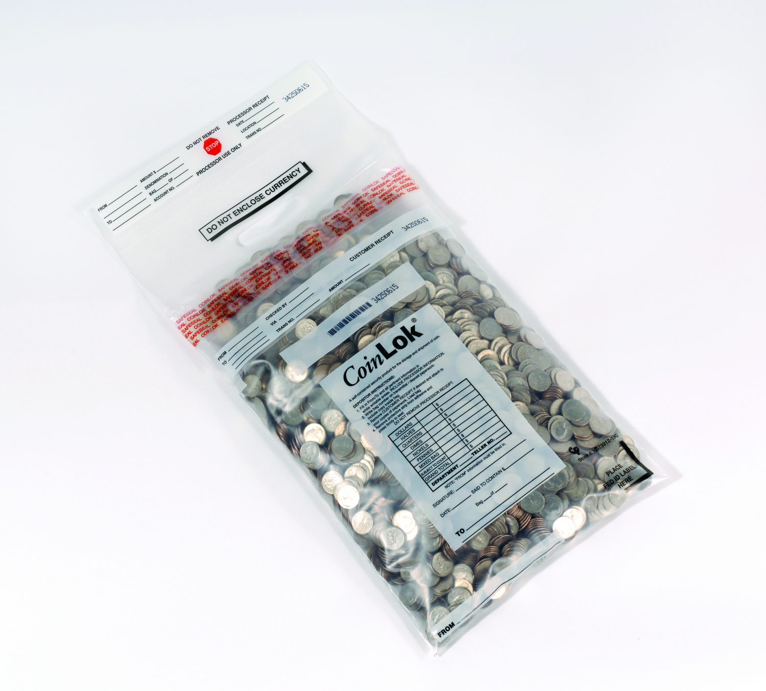 Tamper Evident Plastic Coin Bags