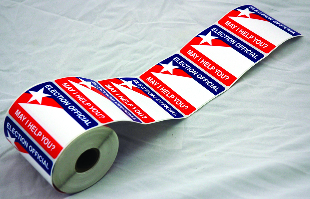 Election Officials Name Tag Stickers A Rifkin Co